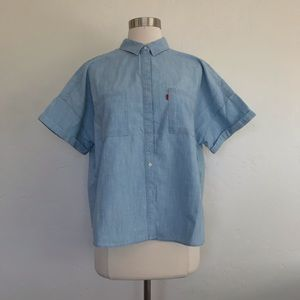 Levi's Chambray Boxy Fit Button Down Shirt Large